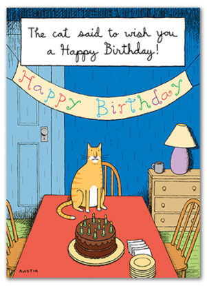 Snafu Birthday Card BD219 funny wholesale greeting card. This sarcastic birthday card for men or women has a special appeal for animal lovers