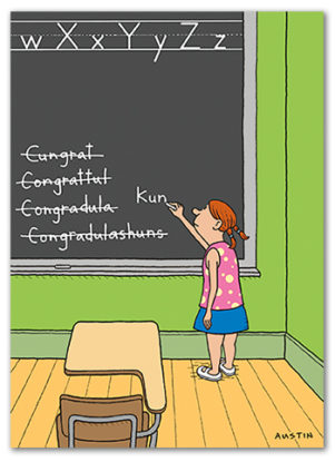 C015 Snafu Congratulations Card