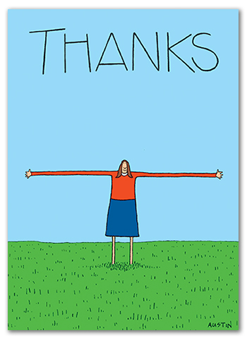 Funny Thank You Card TY008