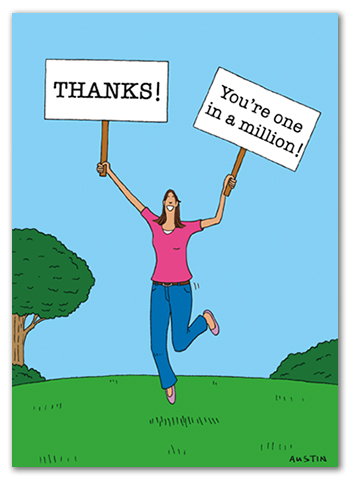 Funny Thank You Card TY018