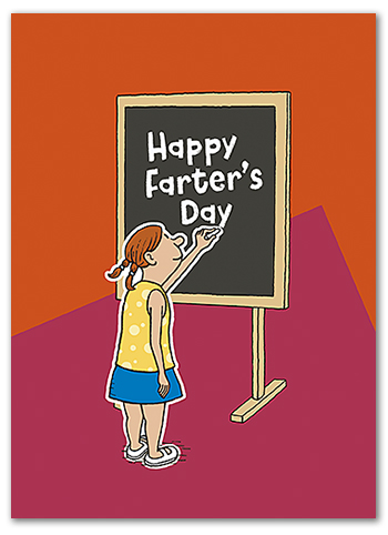 FD005 funny wholesale Father's Day card