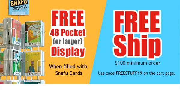 Free 48 Pocket Display, Free Shipping